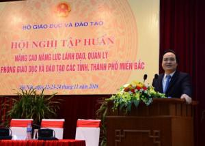 Bộ GD&ĐT tập huấn năng lực lãnh đạo cho 300 trưởng phòng GD&ĐT miền Bắc